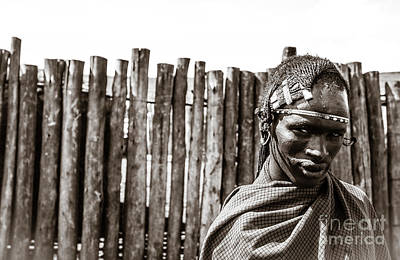 Photograph - Maasai Man Ngorongoro Conservation Area Tanzania by Amyn Nasser