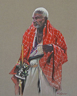 Maasai Mzee Art Print by Cindy Davis