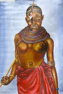 Painting - Maasai Nude by Kinyua