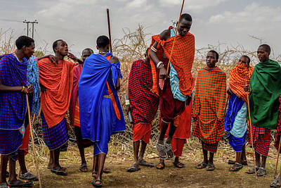Photograph - Maasai Traditional Jumping Dance - Adumu by Marilyn Burton