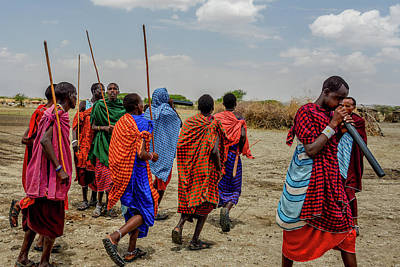 Photograph - Maasai Traditional Welcome Dance by Marilyn Burton