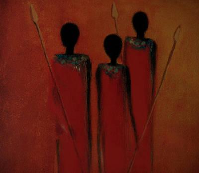 Maasai Trio  Art Print