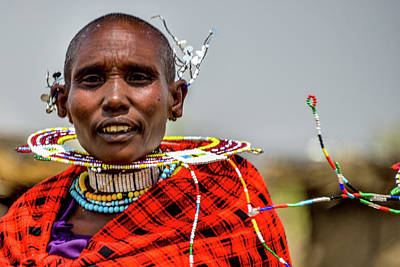 Photograph - Maasai Woman Dancing by Marilyn Burton