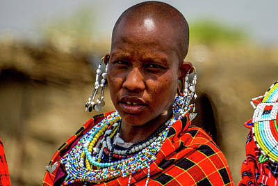Photograph - Maasai Woman In Traditional Dress by Marilyn Burton