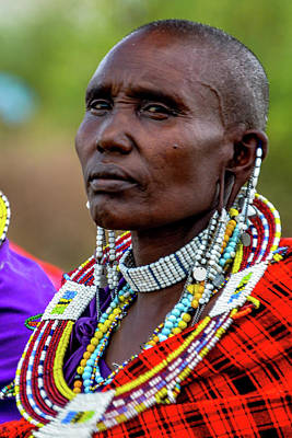 Photograph - Maasai Woman by Marilyn Burton