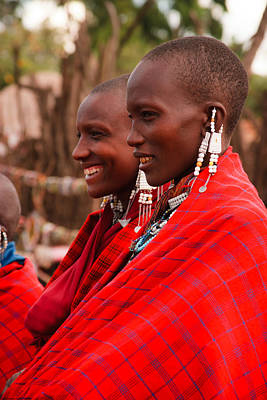 Woman Photograph - Maasai Women by Adam Romanowicz