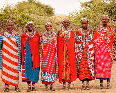 Photograph - Maasai Women by Mitchell R Grosky