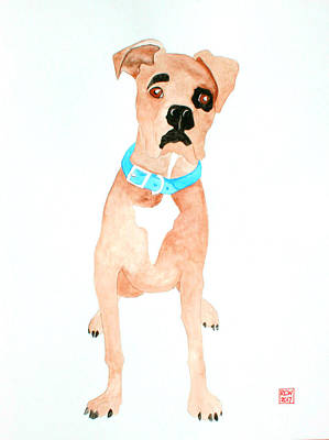 Boxer Painting - Mabel by Richard Williamson
