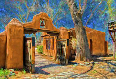 Mabel's Gate As Oil Art Print by Charles Muhle