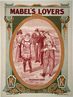 Lovers Artwork Drawing - Mabel's Lovers 1912 by Mountain Dreams