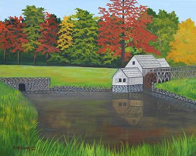 Mabry Grist Mill  Art Print by Ruth  Housley
