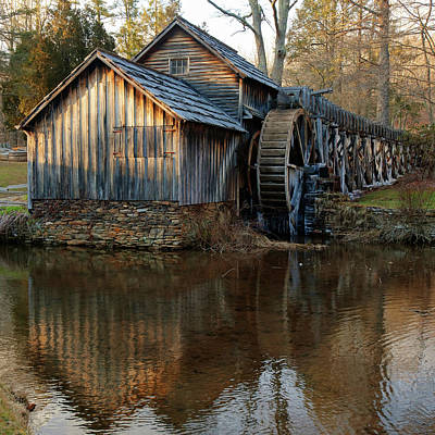 Photograph - Mabry Mill 1x1 - Virginia Mill by Gregory Ballos