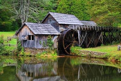 Photograph - Mabry Mill And Mill Pond 1 by Kathryn Meyer