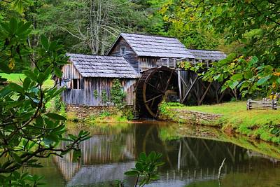 Photograph - Mabry Mill And Mill Pond 2 by Kathryn Meyer