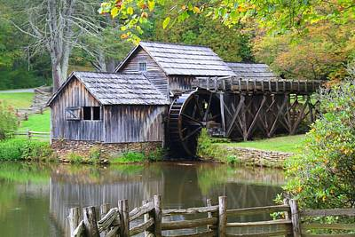 Photograph - Mabry Mill And Pond by Kathryn Meyer