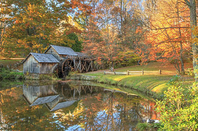 Photograph - Mabry Mill. Blue Ridge Parkway by Doug McPherson