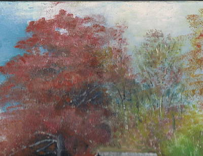 Mabry Painting - Mabry Mill Blue Ridge Parkway Virginia  Closer View by Anne-Elizabeth Whiteway