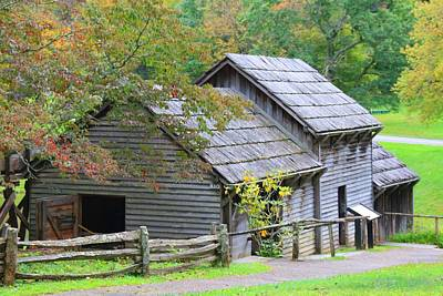 Photograph - Mabry Mill By The Back by Kathryn Meyer