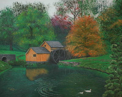 Mabry Painting - Mabry Mill by Christopher Keeler Doolin