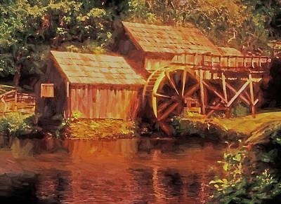 Mixed Media - Mabry Mill by Dennis Cox Photo Explorer