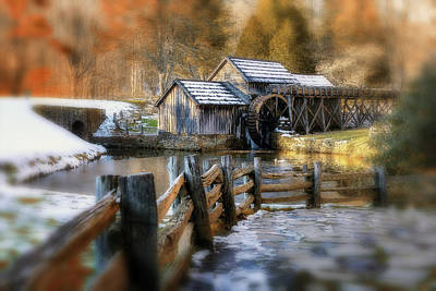 Photograph - Mabry Mill Dream by Steve Hurt