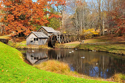 Waterwheel Photograph - Mabry Mill by Edwin Verin