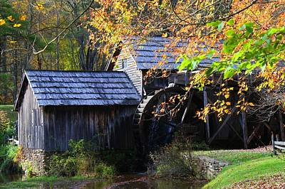 Photograph - Mabry Mill In Autumn by Kathryn Meyer