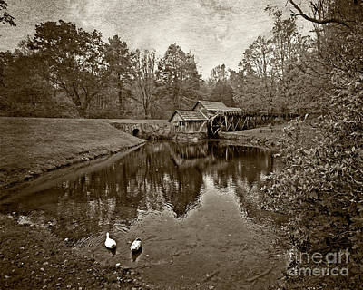 Mabry Mill In Black And White Art Print by Tom Gari Gallery-Three-Photography