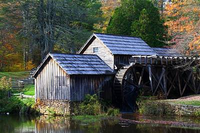 Photograph - Mabry Mill In Early Autumn by Kathryn Meyer