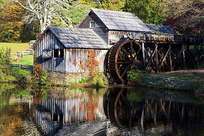 Photograph - Mabry Mill In The Fall by Jill Lang