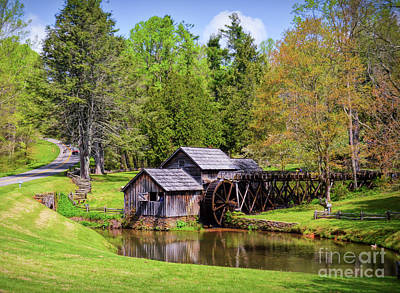 Photograph - Mabry Mill In The Springtime On The Blue Ridge Parkway  by Kerri Farley