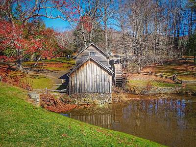 Photograph - Mabry Mill In Virginia by Anne Sands