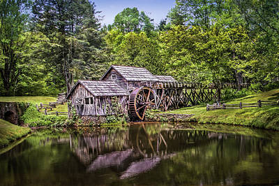 Photograph - Mabry Mill by James Woody