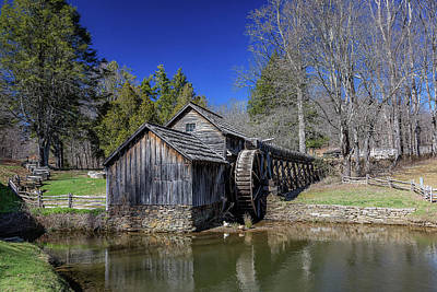 Photograph - Mabry Mill Late Fall by Steve Hurt