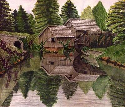 Mabry Mill Painting - Mabry Mill by Laura Hopkins