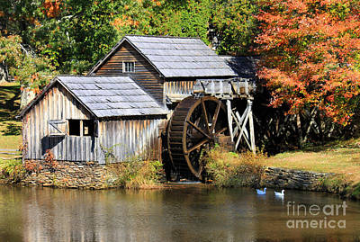 Photograph - Mabry Mill by Lena Auxier