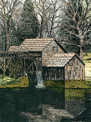 Mabry Mill Art Print by Mike OBrien