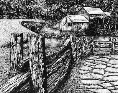 Mabry Mill Painting - Mabry Mill Print by Cherie Taylor