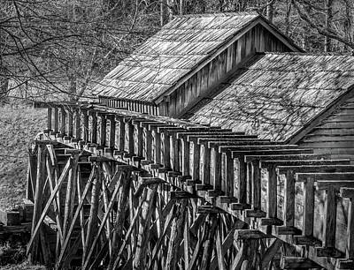 Photograph - Mabry Mill - Rear View by James Woody