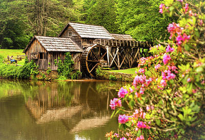 Photograph - Mabry Mill by Rebecca Hiatt