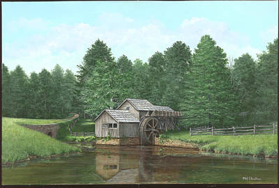 Mabry Painting - Mabry Mill Summer by Phil Christman