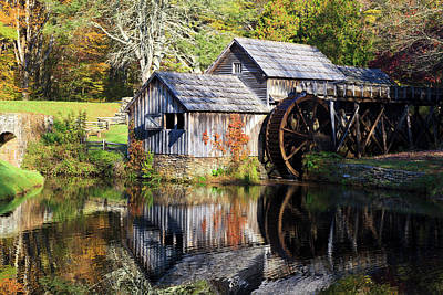 Photograph - Mabry Mill With Autumn Color by Jill Lang