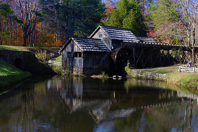 Photograph - Mabrys Mill On The Blue Ridge by B Wayne Mullins