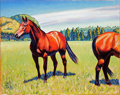 Painting - Mac And Friend by Stacey Neumiller