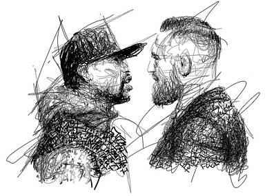 Floyd Mayweather Jr Digital Art - Mac Vs May by Jimmy Chard