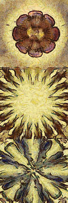 Slate Pattern Painting - Macaco Image Flower  Id 16164-093016-07210 by S Lurk