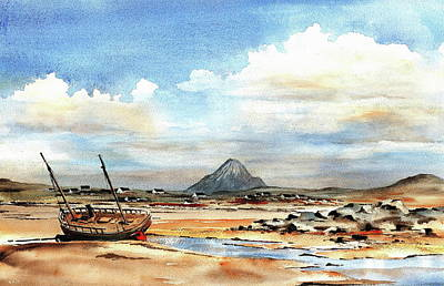 Painting - Macaire Beach, Gweedore, Donegal. by Val Byrne
