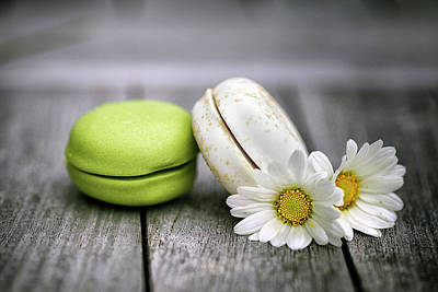 Rustic Photograph - Macarons by Nailia Schwarz