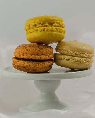 Photograph - Macarons On A Pedestal by Stephanie Maatta Smith