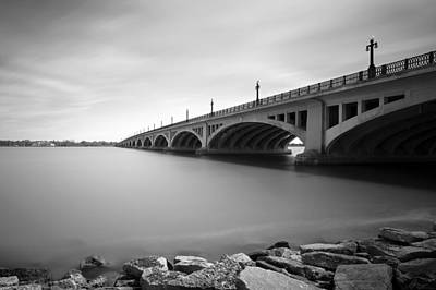 Photograph - Macarthur Bridge To Belle Isle Detroit Michigan by Gordon Dean II